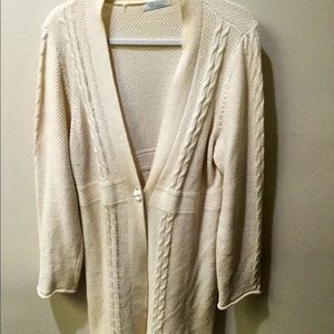 Liz Wear Cardigan off white Sweater XL